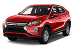 2018 Mitsubishi Eclipse Cross ES 2WD 5 Door SUV angular front stock photos of front three quarter view