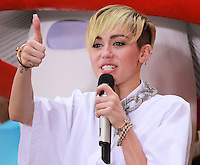 NEW YORK, NY - OCTOBER 07: Miley Cyrus performs on NBC's 'Today' at Rockefeller Plaza on October 7, 2013 in New York City. (Photo by Jeffery Duran/Celebrity Monitor)