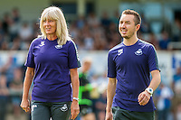 ( L-R ) Suzan Eames Football Utilities Co-ordinator and Soft tissue therapist,Matthew Murray during the Pre Season friendly match between Swansea City and Rovers played at the Memorial Stadium, Bristol on July 23rd 2016