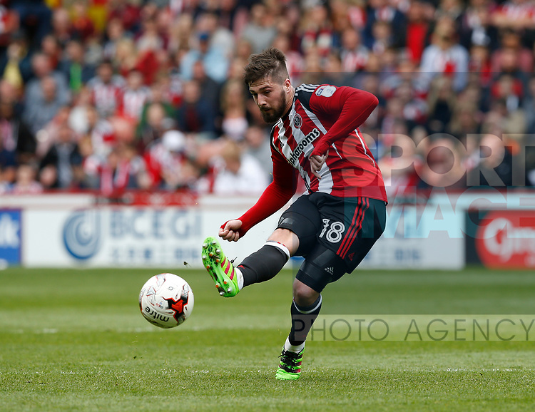 Kieron Freeman of Sheffield Utd in action during the English League One match at  Bramall Lane Stadium, Sheffield. Picture date: April 30th 2017. Pic credit should read: Simon Bellis/Sportimage
