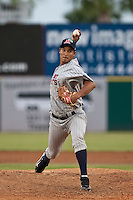 Adrian Salcedo (45) of the Ft. Myers Miracle during a game vs. the Brevard County Manatees May 29 2010 at Space Coast Stadium in Viera, Florida. Ft. Myers won the game against Jupiter by the score of 3-2. Photo By Scott Jontes/Four Seam Images