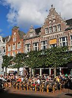Terrasje aan de Groote Markt in Haarlem
