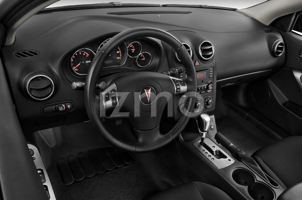 High angle dashboard view of a 2008 Pontiac G6 Sedan GT