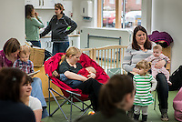 Mothers at a drop-in breastfeeding support centre.