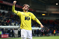 Blackburn Rovers' Danny Graham celebrates at the end of todays match<br /> <br /> Photographer Rachel Holborn/CameraSport<br /> <br /> The EFL Sky Bet Championship - Bolton Wanderers v Blackburn Rovers - Saturday 6th October 2018 - University of Bolton Stadium - Bolton<br /> <br /> World Copyright © 2018 CameraSport. All rights reserved. 43 Linden Ave. Countesthorpe. Leicester. England. LE8 5PG - Tel: +44 (0) 116 277 4147 - admin@camerasport.com - www.camerasport.com