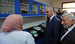 Palestinian Prime Minister, Rami Hamdallah tours the West Bank city of Jenin, on December 10, 2018. Photo by Prime Minister Office