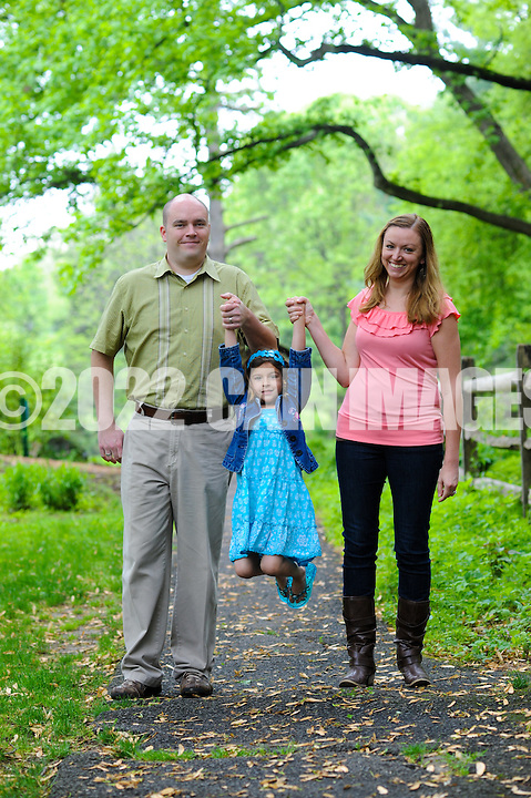 LOWER MORELAND, PA - MAY 5: The Berger family is photographed May 5, 2012 at Pennypack Trust in Lower Moreland, Pennsylvania. (Photo by William Thomas Cain/cainimages.com)