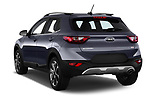 Car pictures of rear three quarter view of a 2018 KIA Stonic Sense 5 Door SUV angular rear