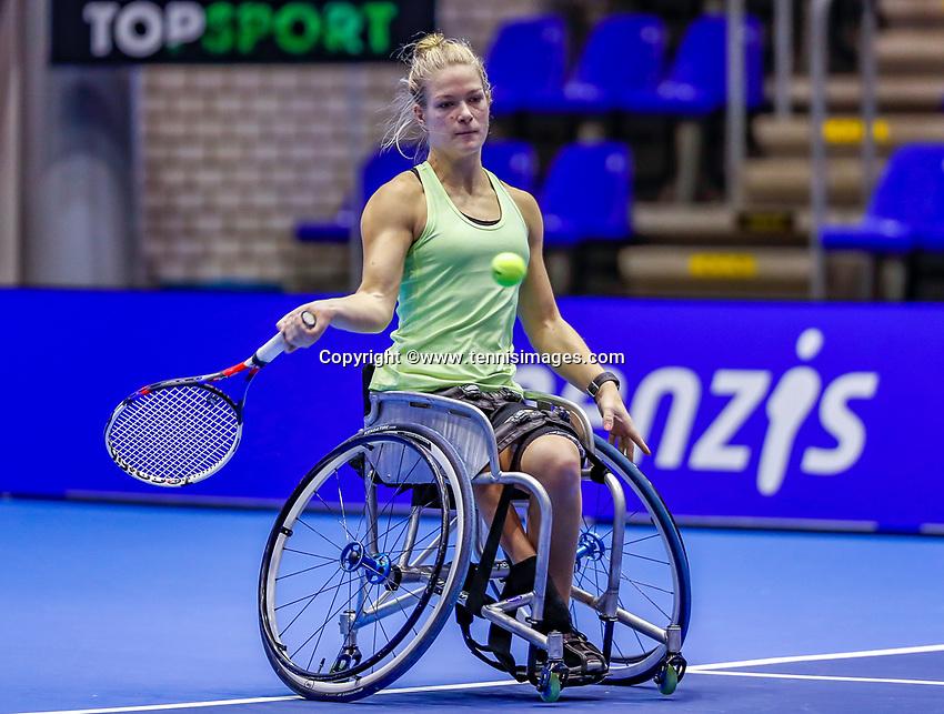 Rotterdam, Netherlands, December 12, 2017, Topsportcentrum, Ned. Loterij NK Tennis, Womans Wheelchair, Diede de Groot (NED)<br /> Photo: Tennisimages/Henk Koster