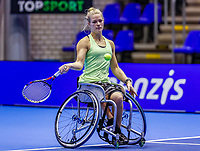 Rotterdam, Netherlands, December 12, 2017, Topsportcentrum, Ned. Loterij NK Tennis, Womans Wheelchair, Diede de Groot (NED)<br /> Photo: Tennisimages/Henk Koster