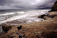 Incoming storm along the Gaviota Coast, at Tajiguas beach, California