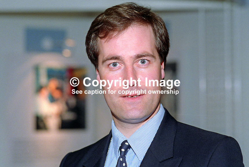 Michael Bates, MP, Conservative Party, UK, at annual conference, October 1992. 19921062MB..Copyright Image from Victor Patterson, 54 Dorchester Park, Belfast, UK, BT9 6RJ..Tel: +44 28 9066 1296.Mob: +44 7802 353836.Voicemail +44 20 8816 7153.Skype: victorpattersonbelfast.Email: victorpatterson@me.com.Email: victorpatterson@ireland.com (back-up)..IMPORTANT: If you wish to use this image or any other of my images please go to www.victorpatterson.com and click on the Terms & Conditions. Then contact me by email or phone with the reference number(s) of the image(s) concerned.