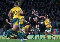 Brodie Retallick in action during the Bledisloe Cup and Rugby Championship rugby match between the New Zealand All Blacks and Australia Wallabies at Eden Park in Auckland, New Zealand on Saturday, 25 August 2018. Photo: Simon Watts / lintottphoto.co.nz