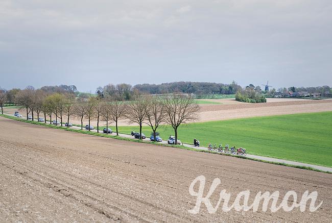 the early breakaway group<br /> <br /> 52nd Amstel Gold Race (1.UWT)<br /> 1 Day Race: Maastricht &rsaquo; Berg en Terblijt (264km)