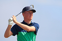 Jack Doherty (Carton House) on the 17th tee during Round 2 - Strokeplay of the North of Ireland Championship at Royal Portrush Golf Club, Portrush, Co. Antrim on Tuesday 10th July 2018.<br /> Picture:  Thos Caffrey / Golffile