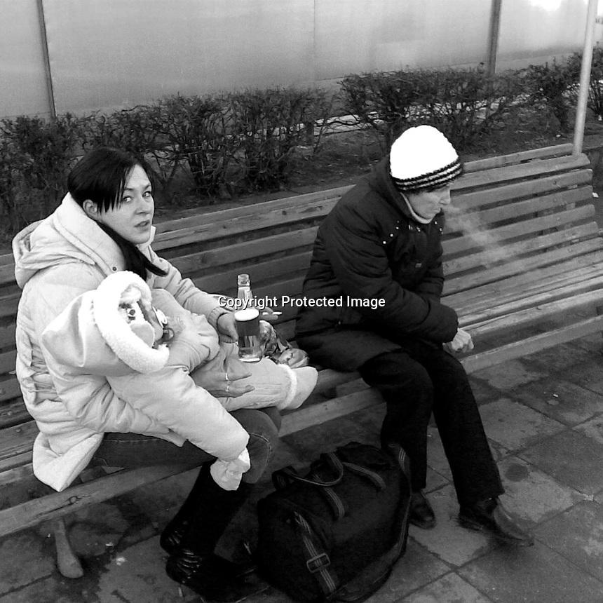 Lithuania, Kaunas. Women waiting 2