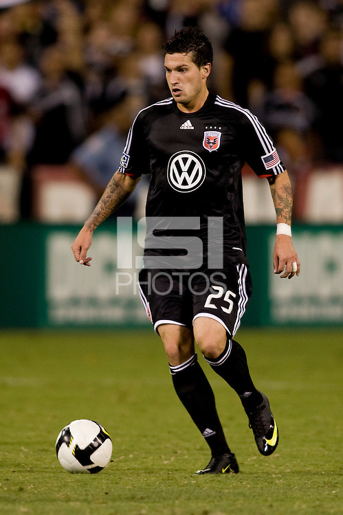 Santino Quaranta. The Seattle Sounders defeated DC United, 2-1, to win the 2009 Lamr Hunt U.S. Open Cup at RFK Stadium in Washington, DC.
