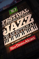 The logo of the Montreal International Jazz Festival.