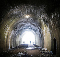 03/03/18<br /> <br /> Commission Fea0081816 Assigned<br /> <br /> A hiker braves the cold as he walks through a railway tunnel lined with icicles at the southern end of the Tissington Trail in Ashbourne in the Derbyshire Peak District.<br />   <br />   <br /> All Rights Reserved F Stop Press Ltd. +44 (0)1335 344240 +44 (0)7765 242650  www.fstoppress.com