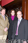 ENTREPRENEUR: Alan Scroope, Entrepreneur of the Year (right), who was the guest speaker at the Chamber of Commerce Luncheon at The Imperial Hotel, Tralee, on Friday. Attending the luncheon were James Clifford (Kerry County Council) and Caroline McEnery (President Tralee Chamber of Commerce)..