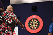 11th January 2018, Brisbane Royal International Convention Centre, Brisbane, Australia; Pro Darts Showdown Series; Kyle Anderson (AUS) in Quarter Final action against Andy Hamilton (GBR)