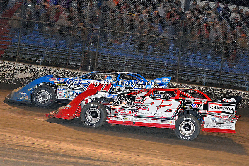 Feb 15, 2014; 9:28:23 PM; Gibsonton, FL., USA; The Lucas Oil Dirt Late Model Racing Series running The 38th Aannual WinterNationals at East Bay Raceway Park.  Mandatory Credit: (thesportswire.net)
