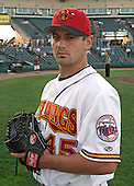 August 26, 2003:  Jesse Crain of the Red Wings, Class-AAA affiliate of the Minnesota Twins, during a International League game at Frontier Field in Rochester, NY.  Photo by:  Mike Janes/Four Seam Images