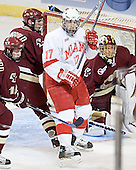 Brock Bradford, Peter Harrold, Nathan Davis, Cory Schneider - The Boston College Eagles defeated the Miami University Redhawks 5-0 in their Northeast Regional Semi-Final matchup on Friday, March 24, 2006, at the DCU Center in Worcester, MA.
