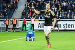 Solna 2015-04-26 Fotboll Allsvenskan AIK - &Ouml;rebro SK :  <br /> AIK:s Fredrik Brustad firar sitt 3-0 m&aring;l under matchen mellan AIK och &Ouml;rebro SK <br /> (Foto: Kenta J&ouml;nsson) Nyckelord:  AIK Gnaget Friends Arena Allsvenskan &Ouml;rebro &Ouml;SK jubel gl&auml;dje lycka glad happy
