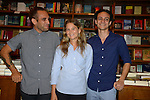 CORAL GABLES, FL - AUGUST 06: (EXCLUSIVE COVERAGE) George Echevarria, Tiffany Noe and  Nick Vagnoni discusses and sign copies of 'Forager: A Subjective Guide to Miami's Edible Plants' at Books and Books on Wednesday August 6, 2014 in Coral Gables, Florida. (Photo by Johnny Louis/jlnphotography.com)