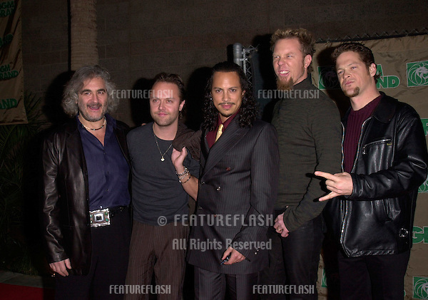 08DEC99: Rock group METALLICA at the Billboard Music Awards in Las Vegas where they won awards for Catalog Artist, and Catalog Album of the year..© Paul Smith / Featureflash