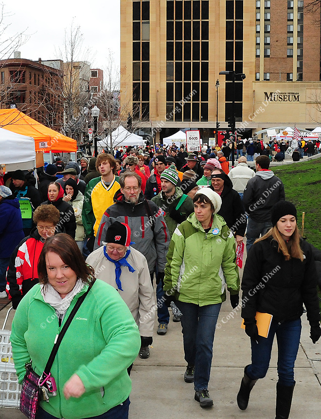 Dane County Farmer's Market at the State Capitol square on Saturday, April 16, 2011, in Madison, Wisconsin