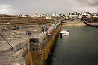 Fishing at low tide Enniscrone County Mayo <br />