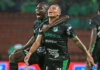 MEDELLIN - COLOMBIA, 19-05-2019: Carlos Rodriguez de Cali celebra después el primer gol de su equipo durante partido entre Atlético Nacional y Deportivo Cali por la fecha 3, cuadrangulares semifinales, de la Liga Águila I 2019 jugado en el estadio Atanasio Girardot de la ciudad de Medellín. / Carlos Rodriguez of Cali celebrates after scoring the first goal of his team during match between Atletico Nacional and Deportivo Cali for the date 3, semifinal quadrangulars, of the Liga Aguila I 2019 played at the Atanasio Girardot Stadium in Medellin city. Photo: VizzorImage / Leon Monsalve / Cont