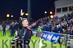 Liam O'Connpr performs before the Kerry and Dublin at Austin Stack Park in Tralee, Kerry on Saturday night.