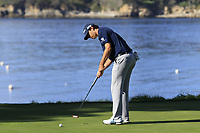 Beau Hossler (USA) putts on the 5th green during Sunday's Final Round of the 2018 AT&amp;T Pebble Beach Pro-Am, held on Pebble Beach Golf Course, Monterey,  California, USA. 11th February 2018.<br /> Picture: Eoin Clarke | Golffile<br /> <br /> <br /> All photos usage must carry mandatory copyright credit (&copy; Golffile | Eoin Clarke)