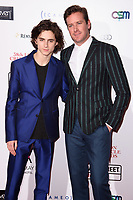 Timothee Chalamet &amp; Armie Hammer at the 38th Annual London Critics' Circle Film Awards at the Mayfair Hotel, London, UK. <br /> 28 January  2018<br /> Picture: Steve Vas/Featureflash/SilverHub 0208 004 5359 sales@silverhubmedia.com
