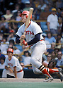 Boston Red Sox Carlton Fisk (27) during a game from his career. Carlton Fisk played for 24 years with 2 different teams , was a 11-time All-Star and was elected to the  Baseball Hall of Fame in 2000.(David Durochik/SportPics)(David Durochik/SportPics)