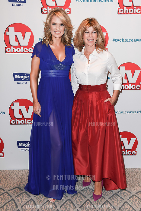 LONDON, UK. September 10, 2018: Charlotte Hawkins &amp; Kate Garaway at the TV Choice Awards 2018 at the Dorchester Hotel, London.<br /> Picture: Steve Vas/Featureflash