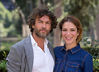 "Gli attori Alessio Boni e Isabella Ragonese posano durante un photocall per la presentazione del film ""In un posto bellissimo"" a Roma, 25 agosto 2015.<br /> Italian actors Alessio Boni, left, and Isabella Ragonese pose during a photocall for the presentation of the movie ""In un posto bellissimo"" in Rome, 25 August 2015.<br /> UPDATE IMAGES PRESS/Riccardo De Luca"
