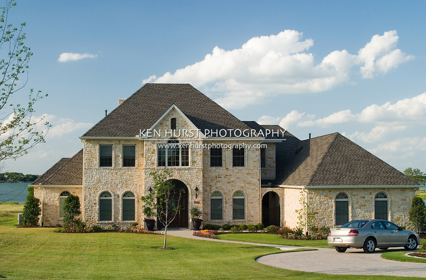 Stone house on lake ken hurst photography for Beautiful brick and stone homes