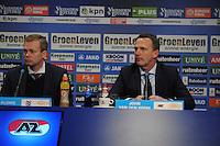 VOETBAL: HEERENVEEN: Abe Lenstra Stadion, 12-02-2017, SC Heerenveen - AZ, uitslag 1-2, ass. coach SC Heerenveen Tieme Kloppe, en coach John van den Brom van AZ, ©foto Martin de Jong