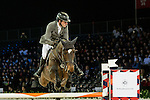 Philipp Weishaupt of Germany riding Call me Eva competes during the EEM Trophy, part of the Longines Masters of Hong Kong on 10 February 2017 at the Asia World Expo in Hong Kong, China. Photo by Marcio Rodrigo Machado / Power Sport Images