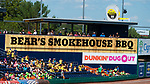 HARTFORD,  CT-071818JS13--Fans watch the  Yard Goat's game against Reading from the Bear's Smokehouse BBQ picnic area on Wednesday afternoon at Dunkin Donuts Park in Hartford.<br /> Jim Shannon Republican American