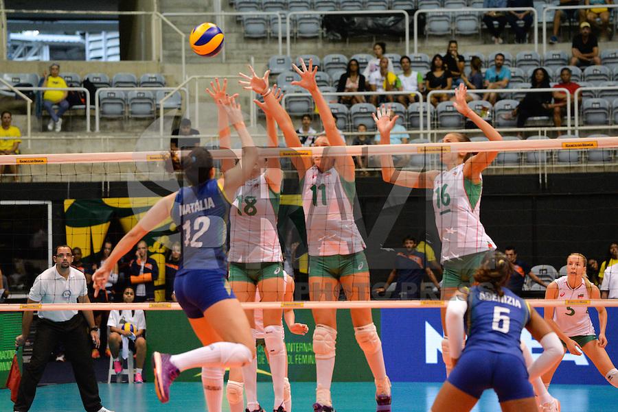 RIO DE JANEIRO, RJ, 29.08.2015 - VOLEI-RJ - A seleção do Brasil enfrenta a Bulgária na Copa Internacional de Voleibol Feminino, no ginásio do Maracanãzinho, na zona norte, neste sábado (29). (Foto: João Mattos / Brazil Photo Press)