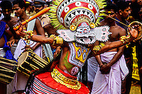 Kerala Folk Dancers, Great Elephant Show, Thrissur (Trichur), Kerala, India