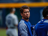 Kenta Maeda.<br /> Acciones del partido de beisbol, Dodgers de Los Angeles contra Padres de San Diego, tercer juego de la Serie en Mexico de las Ligas Mayores del Beisbol, realizado en el estadio de los Sultanes de Monterrey, Mexico el domingo 6 de Mayo 2018.<br /> (Photo: Luis Gutierrez)