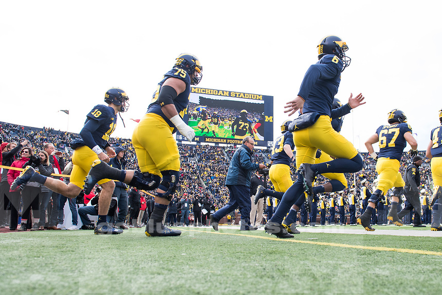 The University of Michigan football team defeats Rutgers, 35-14, at Michigan Stadium in Ann Arbor, MI. on October 28, 2017.