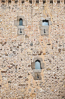 Ancient wall and windows, Segovia, Spain