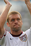 28 May 2006,  Jimmy Conrad.The USA Mens National soccer team defeated Latvia by a score of 1-0 in an international friendly match at Rentschler Field in East Hartford, Connectiticut in their final preparationi for competition at World Cup 2006 in Germany.